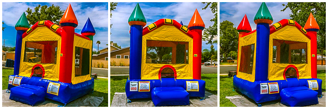 12x14 Mini Multi Color Castle Bounce Jumper