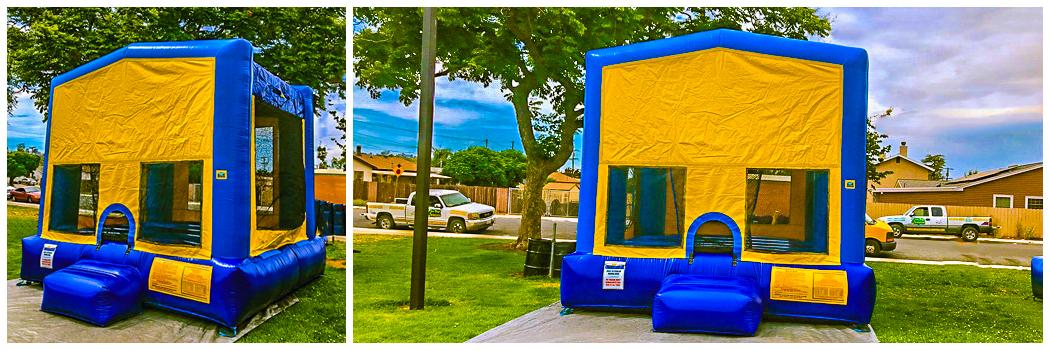 13x13 Blue Banner Bounce House Jumper