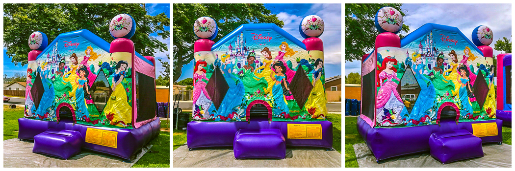 13x13 Disney Princess Theme Bounce House Jumper
