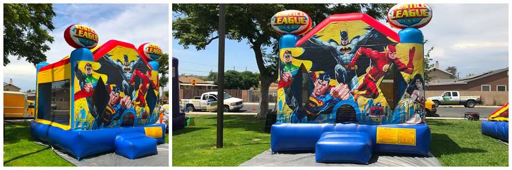 13x13 Justice League Bounce House Jumper