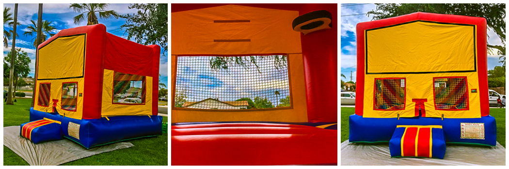 13x13 Regular Banner with Basketball Hoop Bounce House Jumper