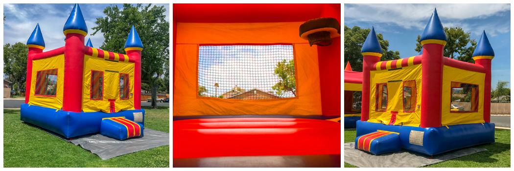 13x13 Regular Bounce House Castle with Basketball Hoop