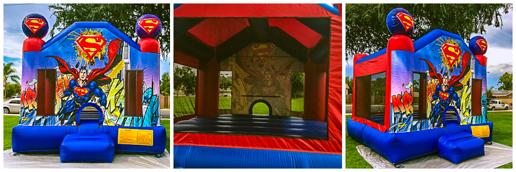 13x13 Superman Bounce House Jumper