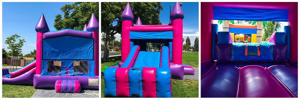 19x26 2 in 1 Pink Castle Banner Jumper