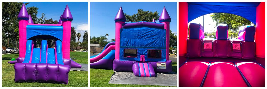 19x28 3 in 1 Pink Castle Banner Jumper