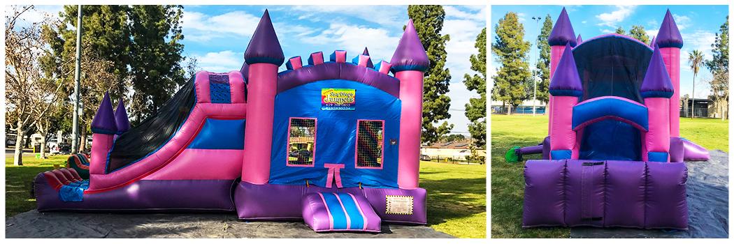 19x32 4 in 1 Pink Castle Jumper