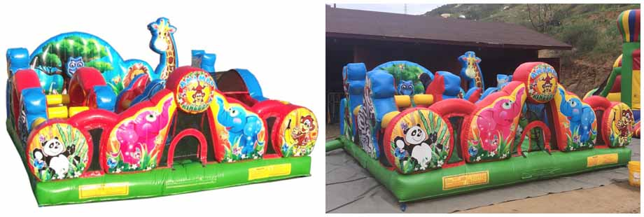 animal theme inflatable toddler jumper