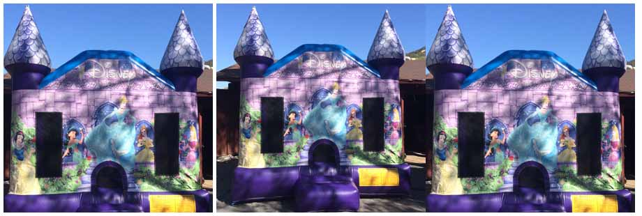 cinderella theme inflatable bounce house for rent
