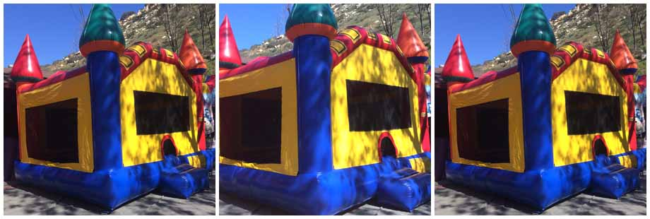 castle theme inflatable bounce house for rent