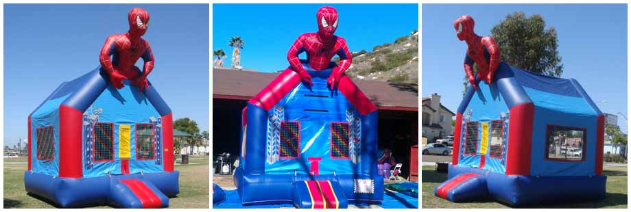 spider man super hero inflatable bounce house for rent