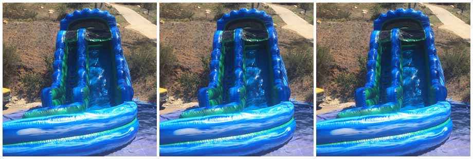 inflatable dry slide for rent