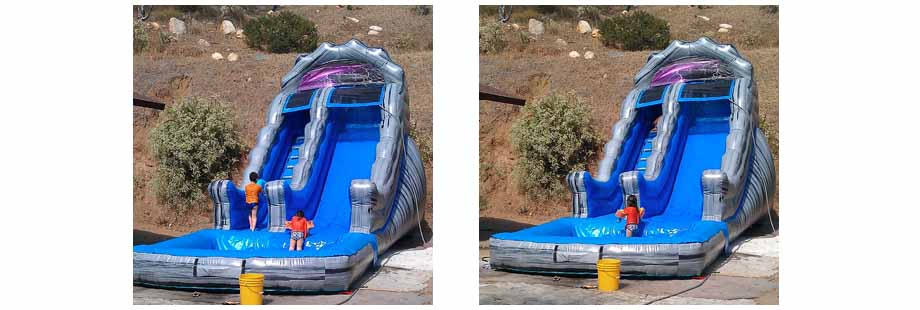 18 foo high inflatable water slide